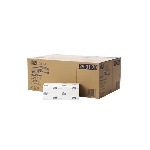 290190 Tork Doorspoelbare Z-vouw Handdoek 2-laags Wit