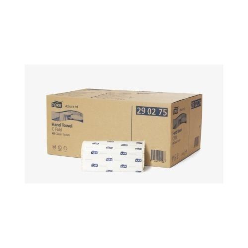 290276 Tork C-vouw Handdoek 2-laags Wit XL