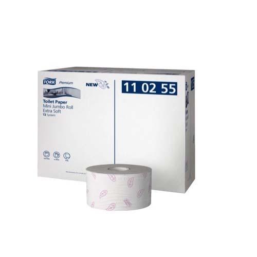 110255 Tork Premium Toilet Paper Mini Jumbo Roll Extra Soft
