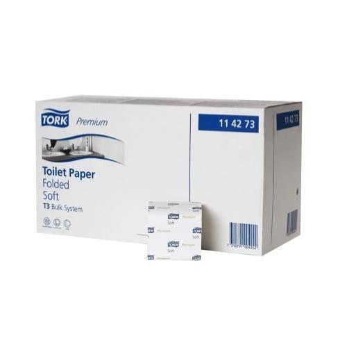114273 Tork Premium Toilet Paper Folded Soft