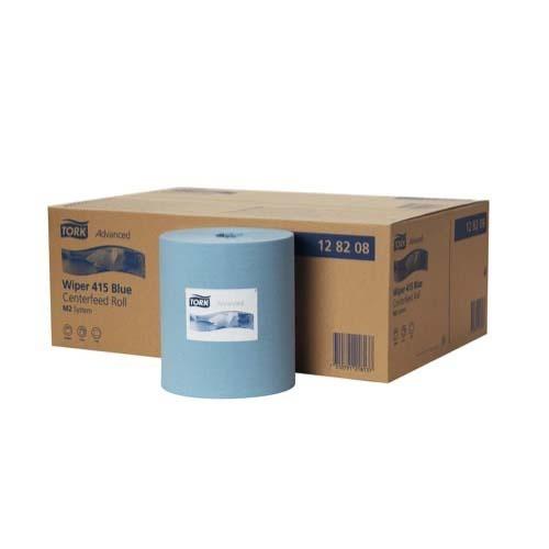 128208 Tork Advanced Wiper 415 Blue Centerfeed Roll Blue