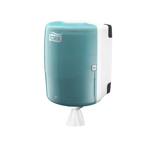 653000 Tork Combi Rol Poetspapier Dispenser Kunststof Wit/Turquoise