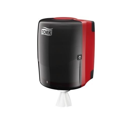 653008 Tork Combi Rol Poetspapier Dispenser Kunststof Zwart/Rood