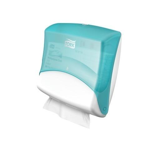 654000 Tork Gevouwen Reinigingsdoek Dispenser Kunststof Wit/Turquoise