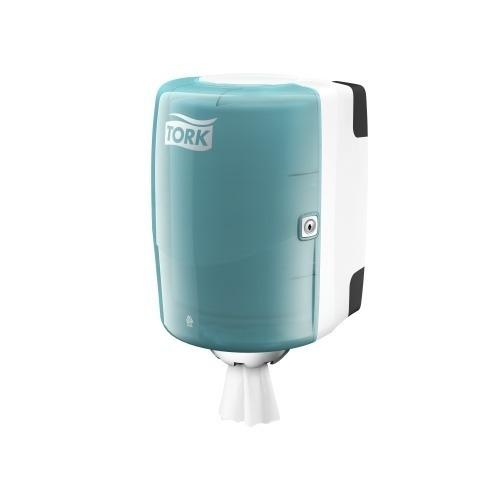 659000 Tork Centerfeed Poetspapier Dispenser Kunststof Wit/Turquoise