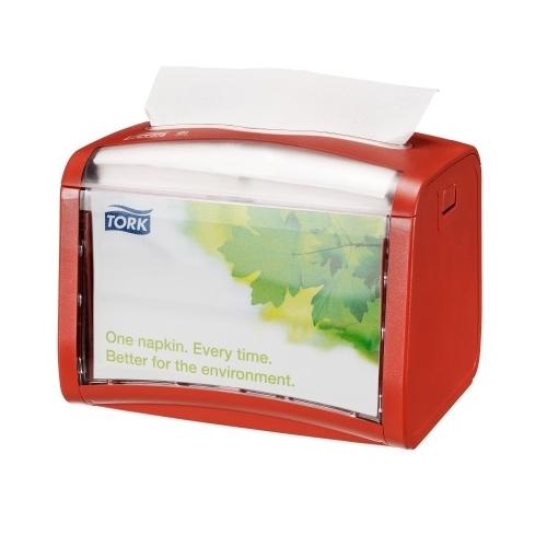 272612 Tork Xpressnap® Tabletop servetdispenser rood (N4)
