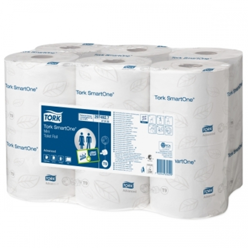 472193 Tork SmartOne® Mini Toiletpapier 2-laags Wit T9 Advanced