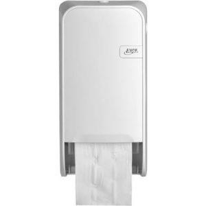 Witte toiletrolbak